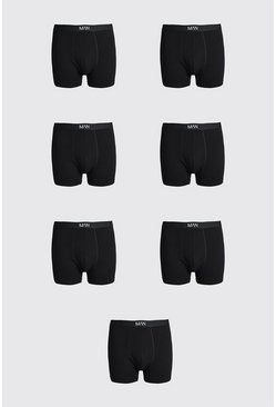 Black Plus Size 7 Pack MAN Dash Trunk