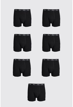Grande taille - Lot de 7 boxers - MAN, Black