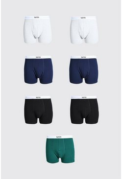 Grande taille - Lot de 7 boxers - MAN, Multi