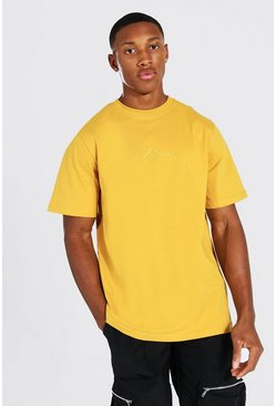 Mustard MAN Signature Embroidered T-Shirt