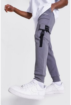 Jogging cargo skinny utilitaire Official, Charcoal