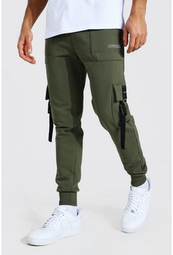 Khaki Official Utility Skinny Cargo Joggers
