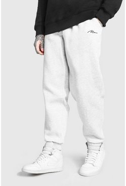 Ash grey MAN Signature Loose Fit Jogger