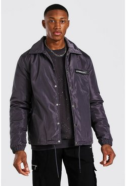 Veste coach - MAN Official, Charcoal