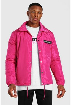 Veste coach - MAN Official, Pink