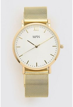 Gold MAN Dash White Face Classic Watch
