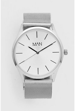 Silver MAN Dash Metal Strap Watch