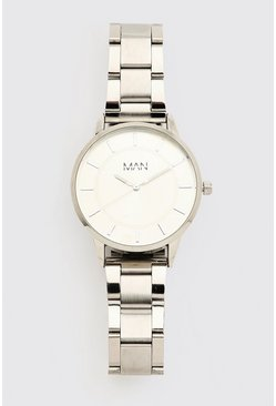Silver MAN Dash Block Colour Watch