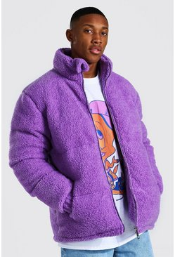 Purple Borg Funnel Neck Puffer