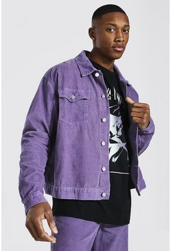 Purple Boxy Fit Cord Jacket