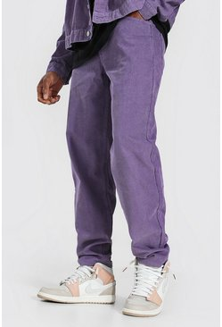 Purple Relaxed Fit Cord Trouser