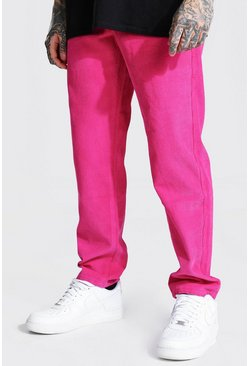 Bright pink Relaxed Fit Cord Trouser