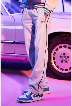 Lilac Man Tricot Joggers With Zip Hem