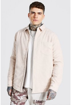 Stone Cord Quilted Shirt Jacket