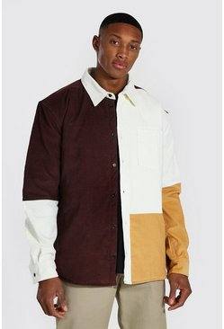 Brown Quilted Two-Piece Shirt Jacket