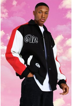 Certified Fabric Block Varsity Harrington, Red