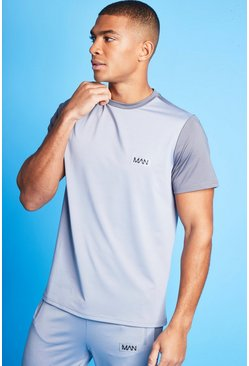 T-shirt color block - MAN, Grey
