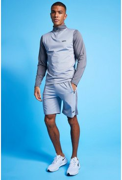 Grey Man Active 1/4 Zip Top & Short Tracksuit