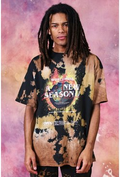 Brown Oversized New Season Tie Dye T-shirt