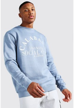 Light blue Calabasas Embroidered Sweatshirt