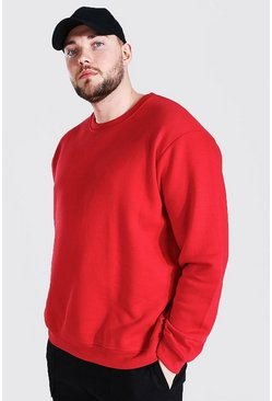 Red Plus Size Basic Sweater