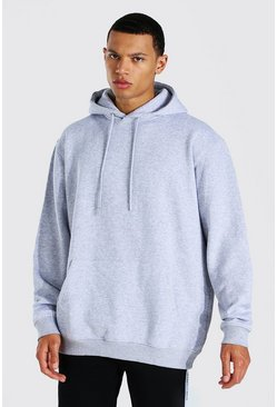 Grey marl Tall Oversized Basic Hoodie