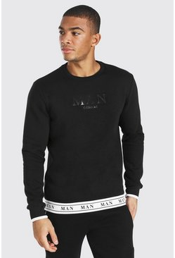 Black Man Roman Tape Hem Sweatshirt