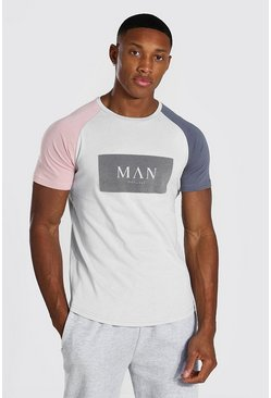 Grey marl Man Roman Muscle Fit T-shirt