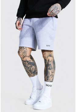 Grey marl Original Man Mid Length Regular Jersey Shorts