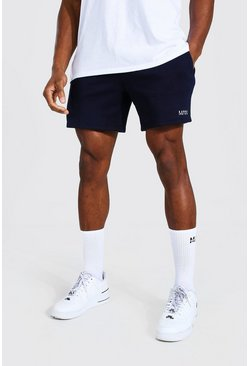 Navy Original Man Short Length Slim Jersey Shorts