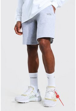 Grey marl Original Man Mid Length Loose Jersey Shorts
