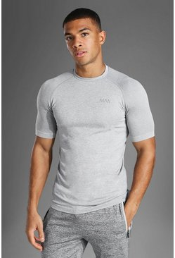 Grey marl Man Active Seamless T Shirt
