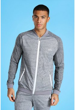 Grey Man Active Tonal Bomber Track Jacket