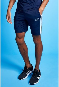 Pale blue Man Active Marl Colour Block Short