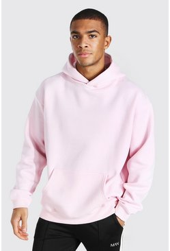Pastel pink Oversized Original Man Embroidery Hoodie