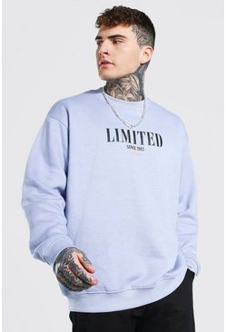 Lilac Oversized Limited Print Sweatshirt