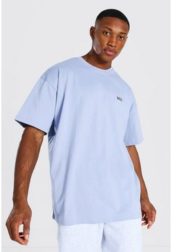 Lilac Oversized Original Man Crew Neck T-shirt