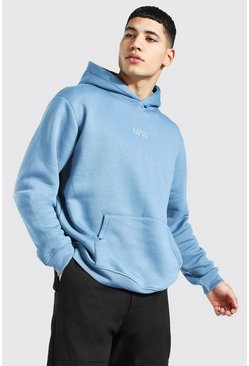 Dusty blue Original Man Over The Head Hoodie