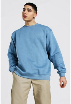 Dusty blue Oversized Crew Neck Sweatshirt