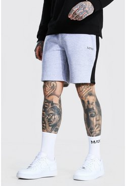 Grey marl Original Man Mid Length Panel Jersey Shorts