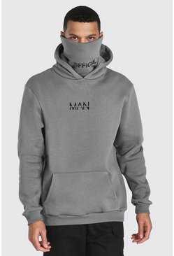 Slate Tall Man Official Jersey Hoodie With Snood