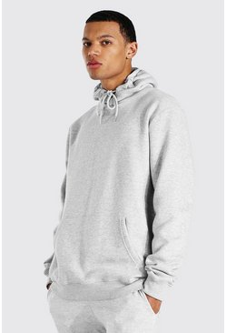 Grey marl Tall Basic Regular Fit Hoodie