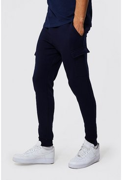 Navy Tall Basic Skinny Cargo Jogger