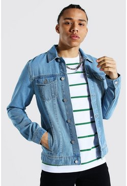 Tall - Veste en jean coupe droite, Light blue