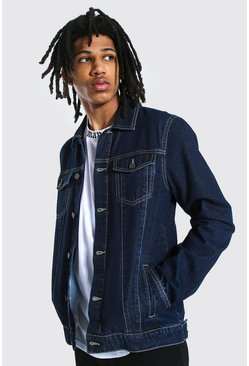Tall - Veste en jean coupe droite, Dark blue
