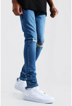 Tall - Jean skinny genoux déchirés, Light blue