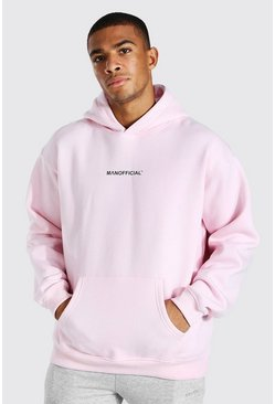 Pastel pink Oversized Man Official Hoodie