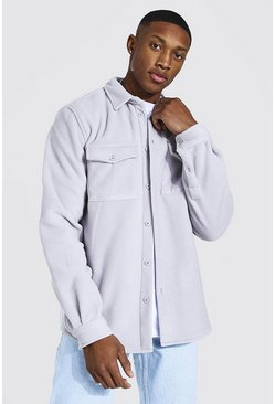 Light grey Man Official Fleece Overshirt