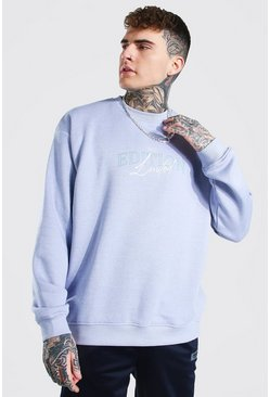 Lilac Oversized Limited Edition Print Sweatshirt
