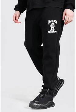 Black Plus Size Death Row License Jogger